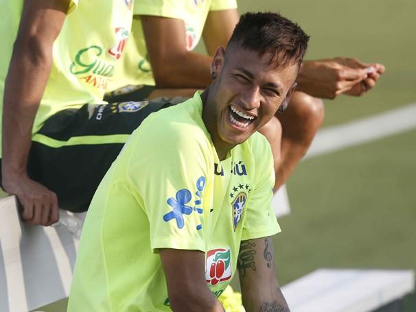 Neymar durante treino em em Nova Jersey (Foto: divulgação/Rafael Ribeiro / CBF)