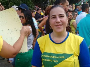 'A gente não aguenta tanta corrupção', diz Patrícia Rocha (Foto: Diego Souza/G1)