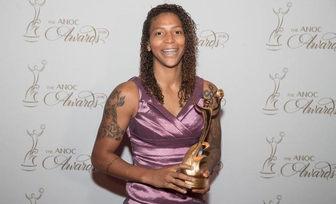 Rafaela Silva prêmio ANOC performance mais inspiradora Rio 2016 judô (Foto: Reprodução/Twitter)