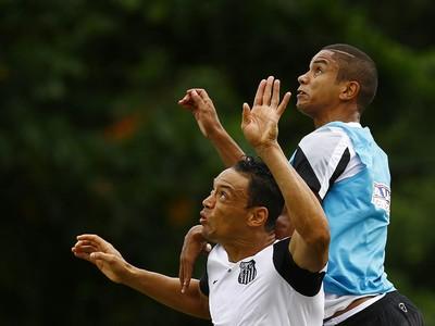 Ricardo Oliveira, David Braz, Santos (Foto: Ricardo Saibun/Santos FC)