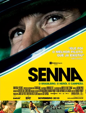 produtora lança cartaz para o Brasil do novo documentário 'Senna' (Foto: Divulgação)