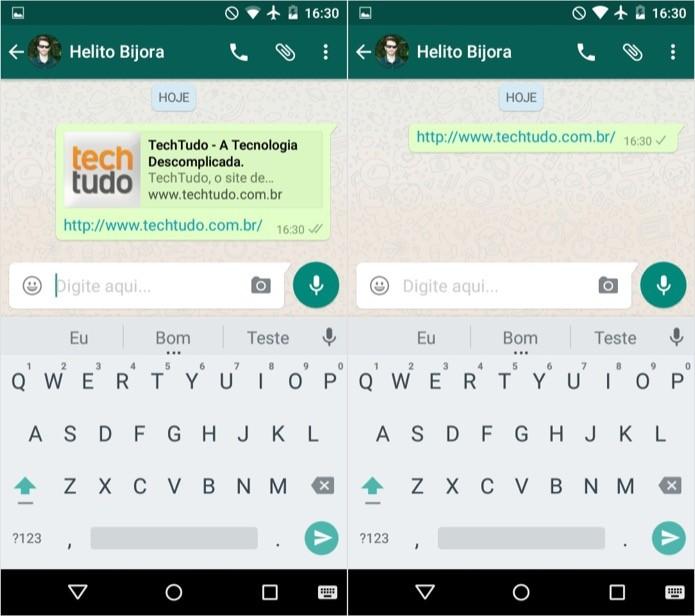 Como remover o preview de links do WhatsApp para Android