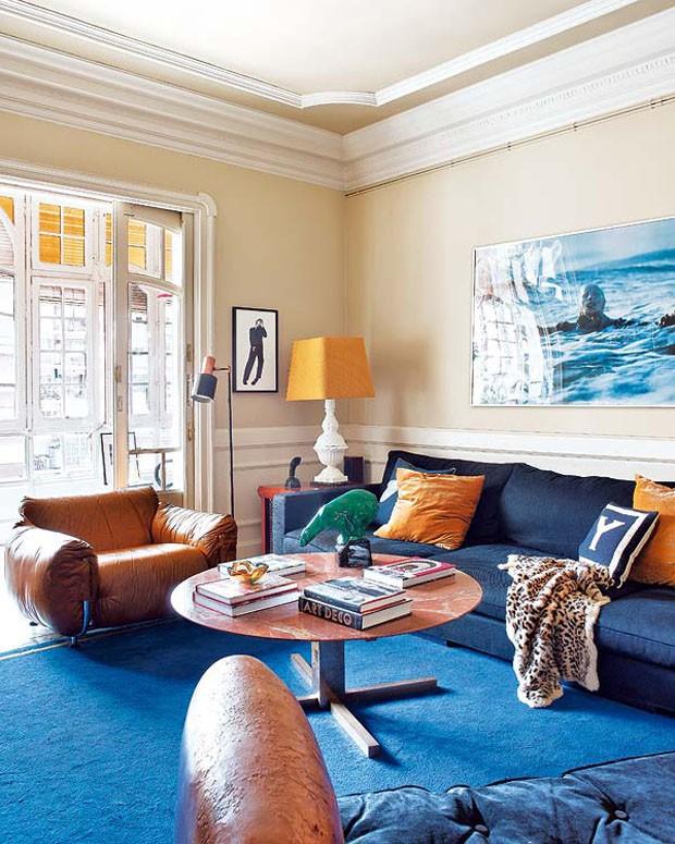 Sala De Estar Com Azul Marinho ~ Design, fotografia e rock 'n' roll  Casa Vogue  Interiores