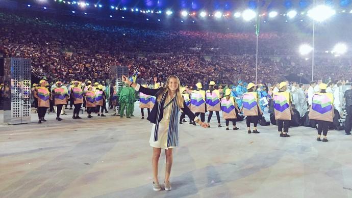 Leona argentina na Cerimônia de abertura da Olimpíada no Maracanã (Foto: Instagram)