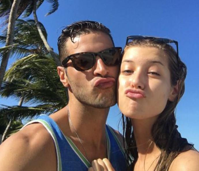 Leandro Lima se gaba pela filha (Foto: Reprodução Internet)