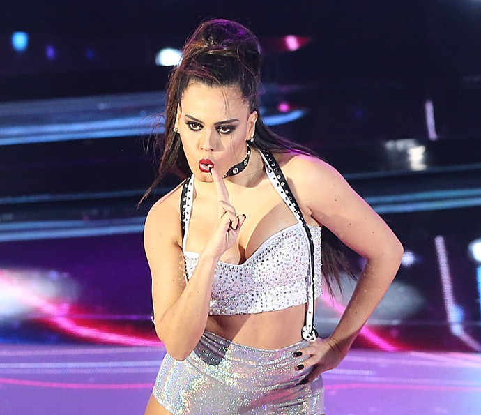 Letícia Lima se apresenta no 'Dança dos Famosos 2016' (Foto: Carol Caminha / Gshow)