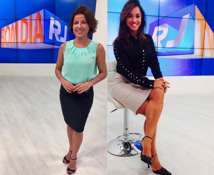 Renata Igrejas e Ana Paula Mendes conversam sobre os looks (Foto: Reprodução)