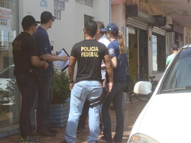 Ação da PF em empresas fantasmas de Guajará-Mirim (Foto: Júnior Freitas/G1)