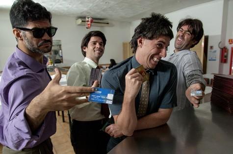 Adriano (conhecido como Joselito), FrancoFanti, Marco Antonio (conhecido como Hermes) e Felipe (conhecido pelo personagem Boça) (Foto: Divulgação)