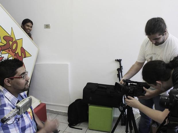 Bastidores do filme 'A Receita da Felicidade' (Foto: Divulgação)