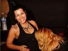 Grávida, Moranguinho ganha carinho de amiga: 'Maria recebendo mimos'