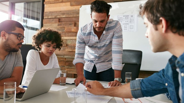 reunião de trabalho, startup, brainstorm (Foto: Thinkstock)