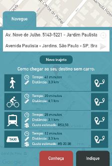 Aplicativo SP Sem Carro (Foto: Reprodução)