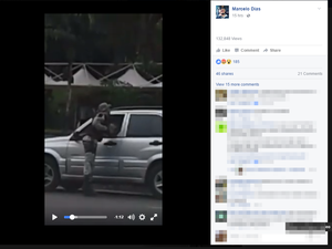 Vídeo publicado no Facebook mostra soco (Foto: Reprodução/ Facebook)