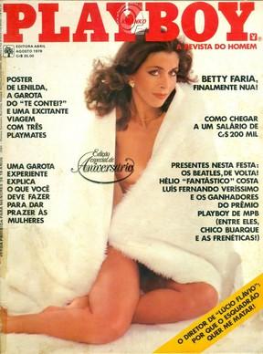 Capa da Playboy com Betty Faria de agosto de 1978 (Foto: Reprodução)