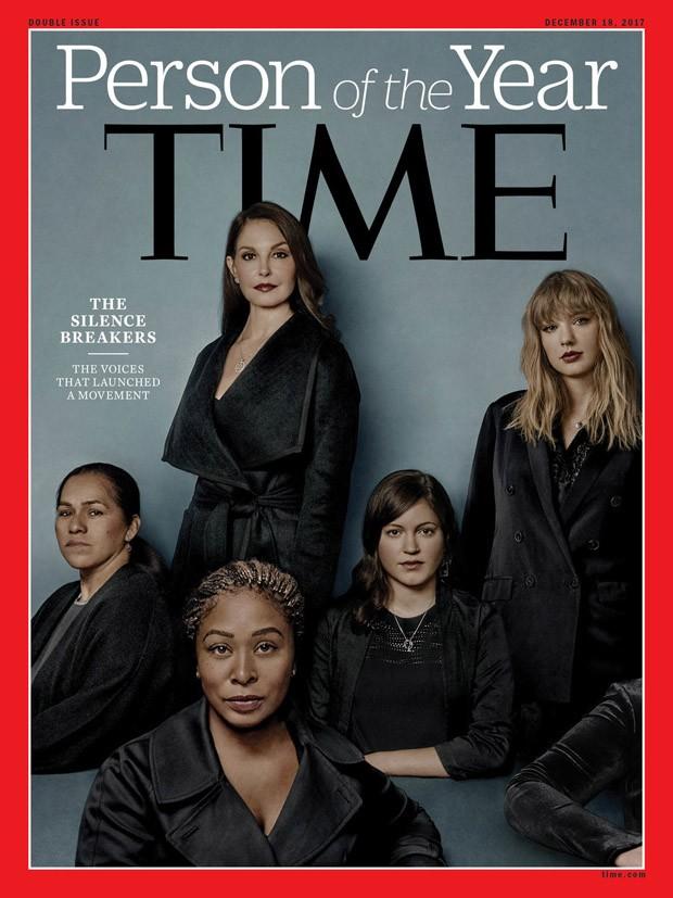 A capa da edição especial Person of the Year da Time destacou mulheres que sofreram assédio e abuso sexual que deu origem à campanha com a hashtag #metoo (Foto: Reprodução/Time)
