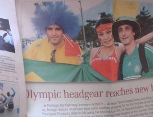 Recorte de jornal da viagem a Pequim (Foto: Filipe Rodrigues / Globoesporte.com)