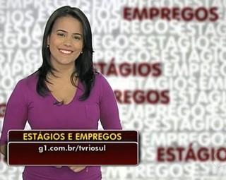 Ana Cláudia Gonçalves fala sobre as dicas de estágios e empregos na região (Foto: Reprodução Bom Dia Rio)
