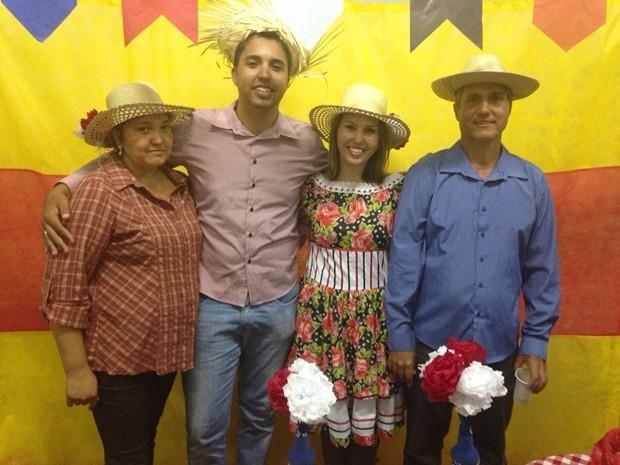 Família de aposentado ajudaram a salvar a vida de ex-pm (Foto: Daniela Ferreira / Arquivo Pessoal )