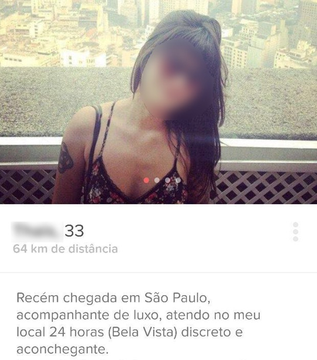 Jovem tem perfil falso criado em aplicativo de relacionamentos (Foto: Reprodução/Tinder)