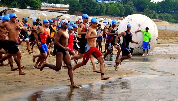Triathlon, amazonas (Foto: Antonio Lima/Divulgação )