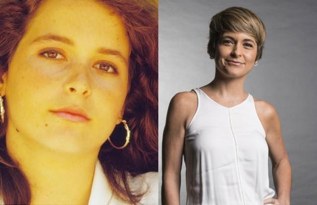 Claudia Abreu, que foi a  Helô de 'A lei do amor', era Ana Paula, filha de Olívia (Denise Del Vecchio) e Jorge (Rodrigo Santiago) (Foto: TV Globo)