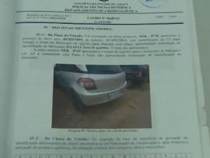 Rapaz é suspeito de participar de quadrilha de roubos de carros (Foto: Reprodução/ TV Amapá)