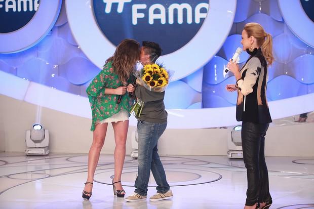 Thammy Miranda participa do Rede da Fama no Programa Eliana deste domingo, 08. (Foto: Roberto Nemanis / SBT)