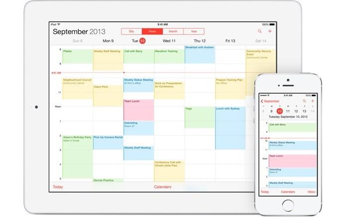 Calendário do iCloud é simples mas funcional (Foto: Divulgação/Apple)