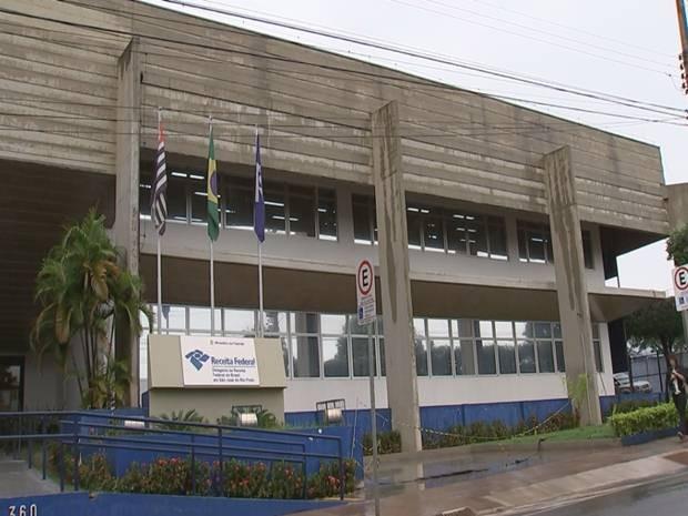 Receita Federal em Rio Preto  (Foto: Reprodução/ TV TEM)