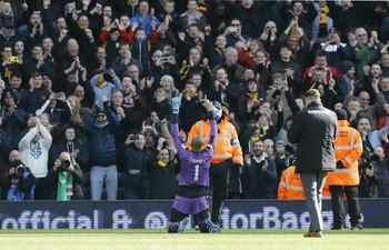 Gomes Watford x West Bromwich (Foto: Reuters)