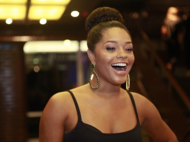 Juliana Alves em espetáculo no Rio (Foto: Isac Luz/ EGO)