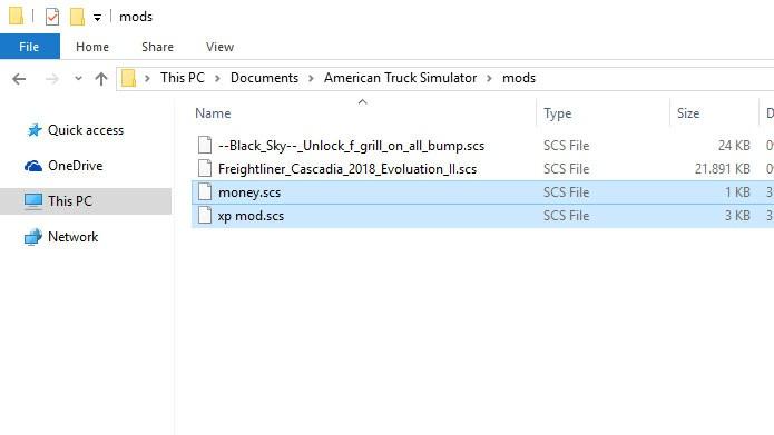 Coloque os mods na pasta C:\Meus Documentos\American Truck Simulator\mods (Foto: Reprodução/Tais Carvalho)