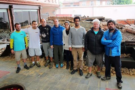 Equipe  da Globo no Nepal (Foto: Arquivo pessoal)