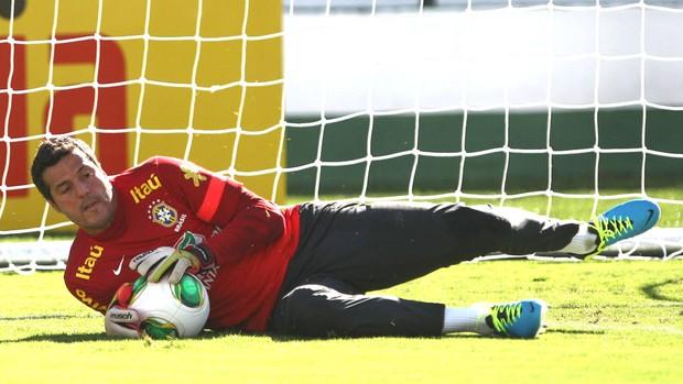 Julio Cesar, Treino Seleção Brasileira (Foto: Bruno Domingos / Mowa Press)