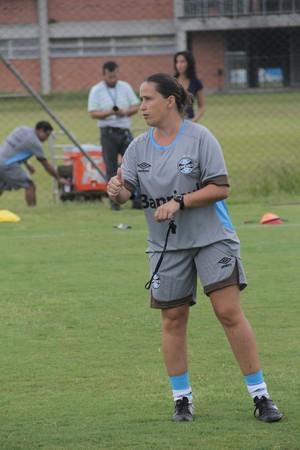 Grêmio feminino técnica Patrícia Gusmão (Foto: Thiago Lopes / AGFF / Grêmio)