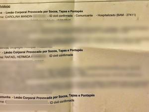 Registro de ocorrência foi feito na 15ª DP, na Gávea (Foto: Reprodução)