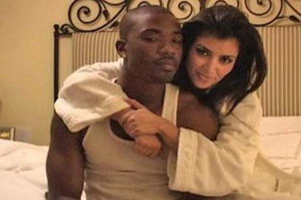 Ray J e Kim Kardashian (Foto: Reprodução / Vídeo)