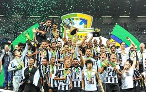 Comemoração Atlético-mg copa do Brasil (Foto: Gustavo Andrade)