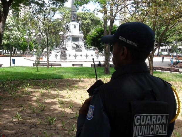 Guarda municipal de Salvador (Foto: Ruan Melo/ G1)