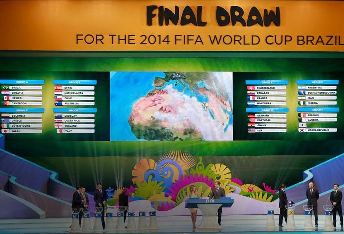 tabela sorteio Copa do Mundo (Foto: Jefferson Bernardes/Vipcomm)