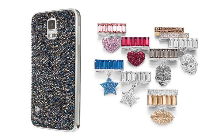 Galaxy S5 e Gear Fit ganharam acessórios do luxo recheado dos famosos cristais Swarovski (Foto: Divulgação/Samsung)