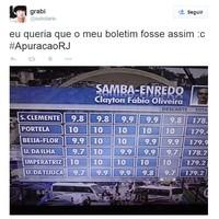 Veja as brincadeiras com a apuração do Rio (Reprodução/Twitter)