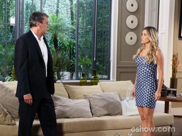 Thomaz garante que Heloísa não precisa se preocupar com as gracinhas de LC (Foto: Além do Horizonte/TV Globo)