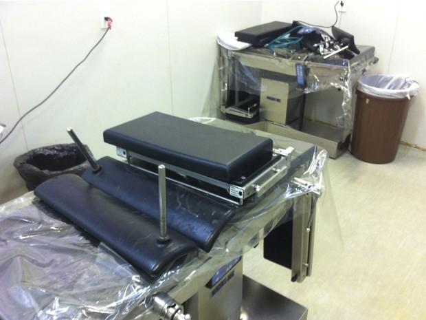 Macas foram desmontadas para dar espaço aos leitos de UTI (Foto: Matheus Magalhães/G1)