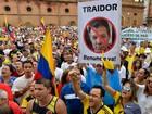 Milhares de colombianos vão às ruas em protesto contra governo e as Farc