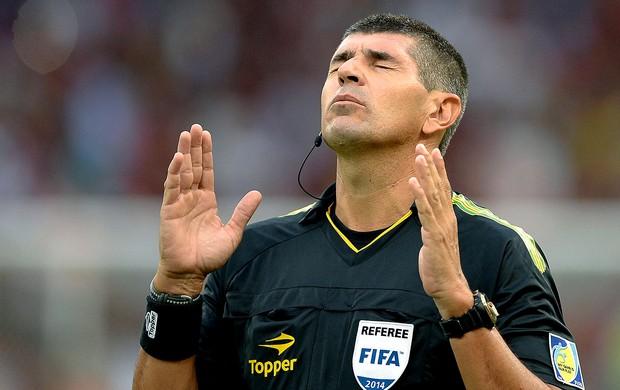 Marccelo de Lima Henrique árbitro da final Flamengo x Vasco (Foto: Pedro Martins / Agência Estado)