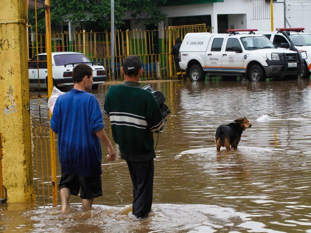 Famílias tiveram que sair de casa com as enchentes (Foto: Luciano Lanes/PMPA)