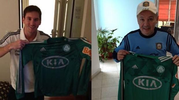Messi camisa Palmeiras (Foto: Divulgação)