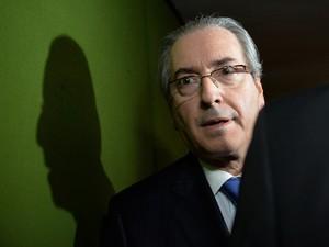 18/03 - O presidente da Cãmara dos Deputados, Eduardo Cunha, em Brasília (Foto: Andressa Anholete/AFP)
